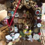 "Valerie Velvet, ""Mom's Love Is,"" wood and mixed media assemblage"
