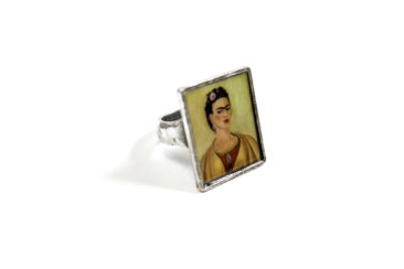 Frida Kahlo portrait ring, $29. Photo by Jessica Laudicina.