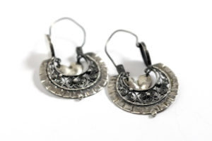 Sterling silver Mexican filigree earrings, $125