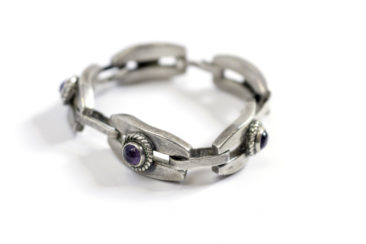 Sterling silver Mexican bracelet with amethyst stones, $295. Photo by Jessica Laudicina.