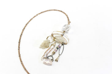 Art By Any Means necklace made of hand selected gemstones and crystals, $137. Photo by Jessica Laudicina.