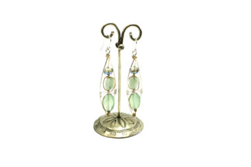 Art By Any Means earrings made of hand selected gemstones and crystals, $79.50