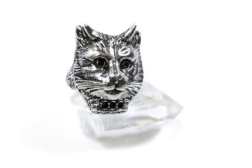 Pewter cat ring by MARTHA ROTTEN, $75. Photo by Jessica Laudicina.