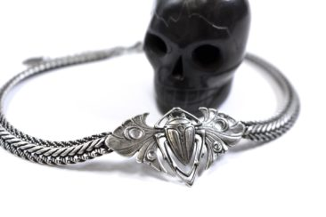Beetle choker with braided chain, $82. Photo by Jessica