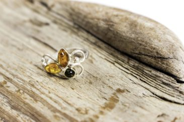 Amber and silver ring, $26. Photo by Jessica Laudicina.