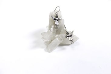 Silver angel earrings, $55. Photo by Jessica Laudicina.