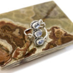 Moonstone stacked ring, $38