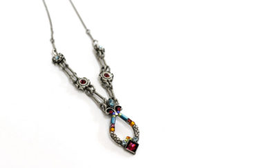 Swarovski crystal and silver necklace by FIREFLY, $72.Photo by Jessica Laudicina.