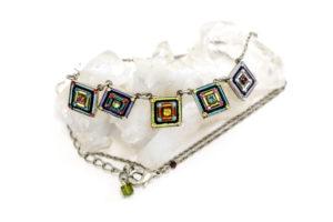 Swarovski crystal and silver necklace, $101.00