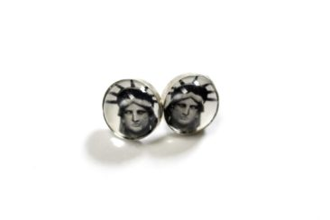Statue of Liberty studs by HOTCAKES DESIGN, $42. Photo by Jessica Laudicina.