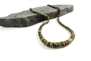 Variegated turquoise necklace, $225. Photo by Jessica Laudicina.