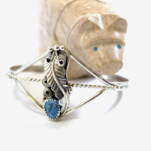 Sterling and turquoise cuff, $65. Photo by Jessica Laudicina.
