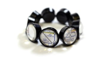 London subway map bracelet by HOTCAKES DESIGN, $50. Photo by Jessica Laudicina.