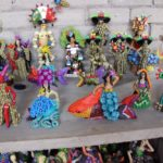 Sculptures of Concepción Aguilar in Ocotlan, Oaxaca.