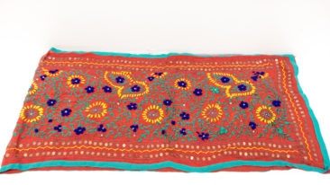 "Embroidered textile from India, 73"" x 19.5"", $72. Photo by Jessica Laudicina."