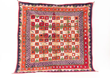 "Textile from Gujarat, India, $180. 31.5"" x 31.5"" Photo by Jessica Laudicina."