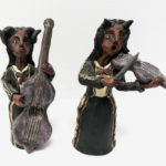 Demonic musicians by Fernando Garcia Aguilar, $68 each. Photo by Jessica Laudicina.