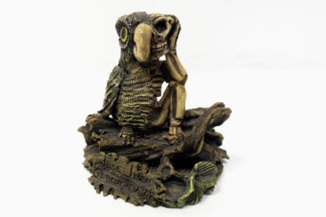 Owl skeleton ceramic sculpture by Jose Juan Garcia Aguilar, $82. Photo by Jessica Laudicina.