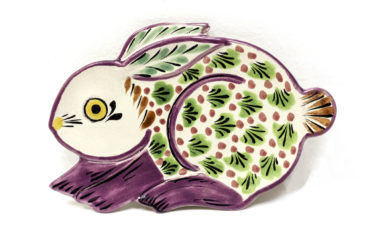 Gorky Gonzalez ceramic rabbit plate, $19.50. Photo by Jessica Laudicina.