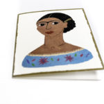 Frida Kahlo greeting card (blank), $3.50. Photo by Jessica Laudicina.