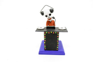 Day of the Dead DJ figurine, $29.50. Photo by Jessica Laudicina.