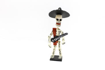 Day of the Dead Guitar player figurine, $21. Photo by Jessica Laudicina.