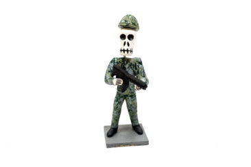 Day of the Dead soldier figurine, $20. Photo by Jessica Laudicina.