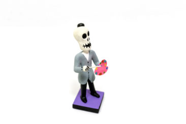 Day of the Dead artist figurine, $19. Photo by Jessica Laudicina.