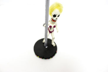 Day of the Dead pole dancer figurine, $19. Photo by Jessica Laudicina.