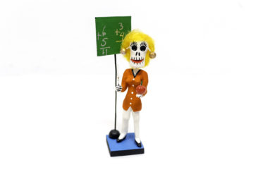Day of the Dead teacher figurine