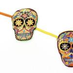 Sugar skull coin purses