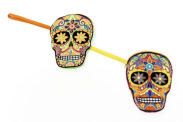 Sugar skull coin purses