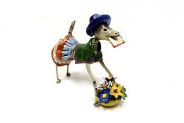 Day of the Dead dog figurine, $34. Photo by Jessica Laudicina.
