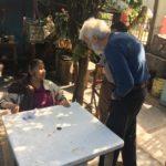 Isaiah Zagar speaks to Josefina Aguilar in Ocotlan, Oaxaca.