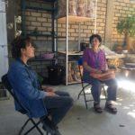 Julia Zagar talks with Angelica Vasquez Cruz