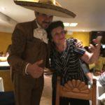 Julia with her Mariachi novio in Mexico City