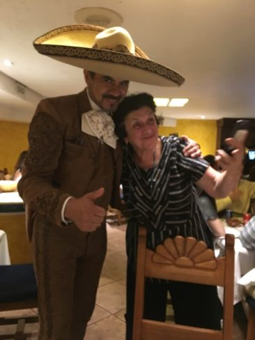 Julia with her Mariachi novio in Mexico City