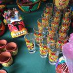 Ceramics and glassware at a market in Mexico City