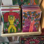 Paintings made by Nicolas and Fernando Lorenzo at a market in Oaxaca
