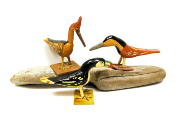 Wooden birds, $36 each.  Photo by Jessica Laudicina.