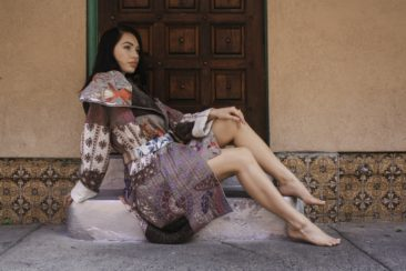 Hand stitched cotton and velvet Kantha jacket from India, $236. Photo by Duncan Brittin.