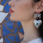Sterling bird and heart earrings from Oaxaca, Mexico, $210. Photo by Duncan Brittin.