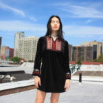 THML black velvet tunic with embroidered plaquette, $67.50. Photo by Duncan Brittin.