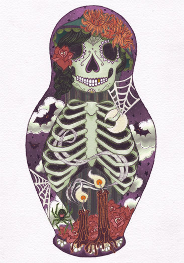 """Kait O'Donnell, """"Muerte Doll,"""" digital print, $50."""