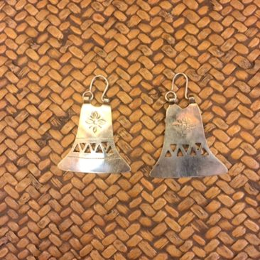 "Mapuche earrings, 1.5"" x 1"", $38."