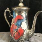 Loren Dann, Anatomical Heart, Oil on silver, $150