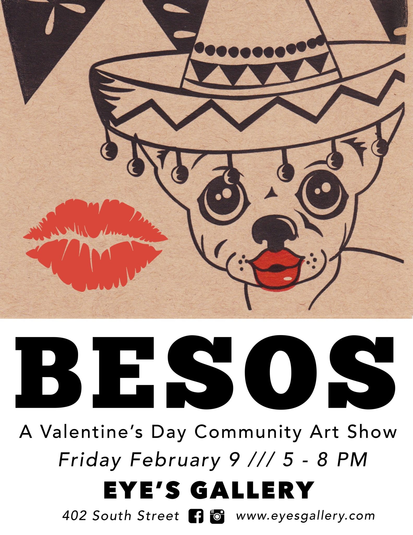Besos: A Valentine's Day Community Art Show
