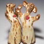 Bonnie-Ann Burnett, Pair of Hearts, ceramic, $66