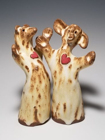 Bonnie-Ann Burnett, Pair of Hearts, ceramic, $66