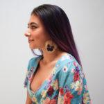Pressed flower pansy earrings, $30